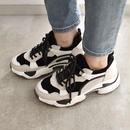 shoes-02054 ダッドスニーカー グレージュ×ホワイト×ブラック
