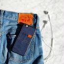 iphone-02260 送料無料! デニム素材 ブラックバンパー iPhoneケース