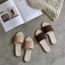 shoes-02018  フェイクスエード フラットサンダル