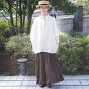 Vlas Blomme(ヴラスブラム)平織リネンリボンワイドシャツ