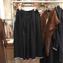 Vlas Blomme(ヴラスブラム)  コルトレイクリネン Vintage Noir ギャザースカート