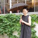 傳(ツタエノヒガサ)柿泥染め 日傘/ 長傘タイプ「キツネノタスキ - 柿渋×泥染 」