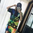 送料無料 半袖 アディダス adidas ロング Tシャツ レディース ワンピース [26]