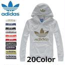 新入荷 Adidas アディダス  パーカー 帽子付き 20色選択可 男女兼用長袖Tシャツ フードつき ジャケット レディースジャージ [ad-ht2]