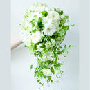 Wedding Bouquet キャスケードブーケ(ブートニアSET)