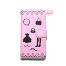 手帳型ケース ピンククローゼット02