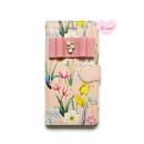 手帳型ケース ピンクフラワーシャワー03×ビジューリボン