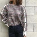 color tweed pullover