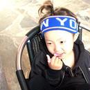 KO2-16224  new yorkヘッドバンド ブルー
