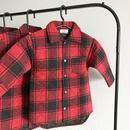 ロングジャケットシャツ/red