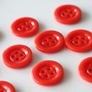 ミルクガラスボタン(red)4つ穴 19㎜ フランスヴィンテージボタン デッドストック  のコピー