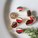 ジグザグメタル赤 1穴10mm フランス現代ボタン