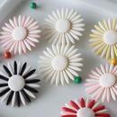 フラワーパーツ(6色展開) フランスヴィンテージパーツ ボタン デッドストック