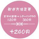 配送方法変更 +240円