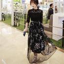 パーティードレス 花柄刺繍 ロングドレス 結婚式 二次会 マキシワンピース FS043701