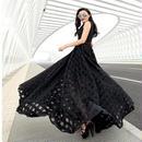 マキシワンピース ロングドレス 黒 ブラック 結婚式 二次会 パーティー ノースリーブ 大きいサイズ XL 2XL FS021801