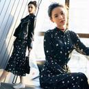 マキシワンピース 韓国ワンピース 星柄デザイン トレンド スター柄 可愛い FS082801