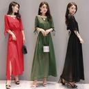マキシワンピース 韓国ワンピース パステルカラー 爽やか ロングドレス お呼ばれ パーティー FS078401