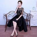 韓国ドレス 花柄 刺繍 シースルー フラワー エレガント 結婚式 二次会 パーティー FS014201