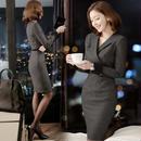 フォーマルワンピース 韓国ワンピース スリム OL ビジネス ナイトシーン FS098901