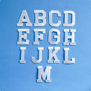 アルファベットワッペン(ブロック体M)/ホワイト