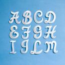 アルファベットワッペン(筆記体M)/ホワイト