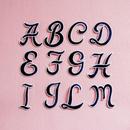 アルファベットワッペン(筆記体M)/ネイビー