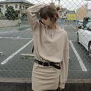 【LR0059】Tシャツワンピ (ベージュ)