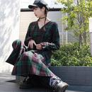【LR0015】チェックロングワンピース