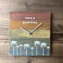 wood clock〜rainbow〜
