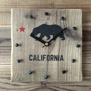 wood clock~california 2~