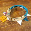 ikoyan for doggy/Garland Collar FLAG (Blue×White)