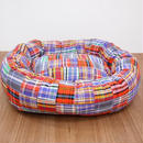 Wagwear Madras Bed Purple  SIZE M
