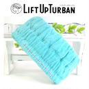美容師さんが考えた加圧式 リフトアップターバン 正規品・ターコイズブルー・飾りなし仕様・送料無料