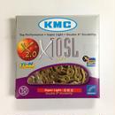 KMC X10SL Ti 軽量チェーン シマノ・カンパ10速用 ゴールド