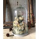 お花のガラスドーム(大)*ホワイト