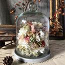 お花のガラスドーム(小)*ピンク