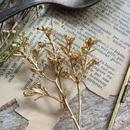 m.soeur ワックスフラワーのブローチ gold
