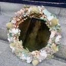 【限定一点】Lilaf お花のリースミラー green