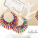 big colorful beads pierce/earring