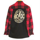 【TRENDY AND TIPSY】BAND TEE FLANNEL SHIRTSN  ACDC