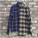 【NOMA t.d.】 2-Faces checked Shirt