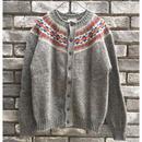 【Jamieson's】Crew neck cardigan sweater