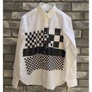 【NOMA t.d.】Cheker Print Shirt ノーマ ティーディ チェッカー プリント シャツ