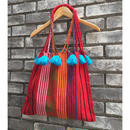 【JUBEL】 STRIPED TOTE W TASSELS