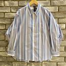 【Breechez】 Stripe Spread Collar Over Shirt