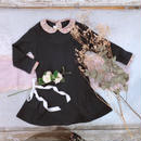 【crochette】ニットワンピース ネイビー