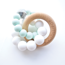 【loulou LOLLIPOP】teether  trintysilicon mint 歯固め ウッドミント