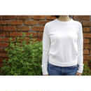 FRENCH TERRY LONG SLEEVE SWEATSHIRT-OFF WHITE