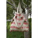TOTE BAG-LITHUANIA LINEN MONOGRAM PRINT CANVAS (RED)